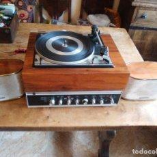Radios antiguas: AMPLIFICADOR DUAL CV31 GIRADISCOS TOCADISCOS DUAL 1214 ALTAVOCES TELEFUNKEN TODO EN MADERA Y METAL. Lote 126942278