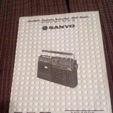 Radios antiguas: MANUAL INSTRUCCIONES RADIOCASETTE SANYO.M2430F-H Y LU.. Lote 111628627
