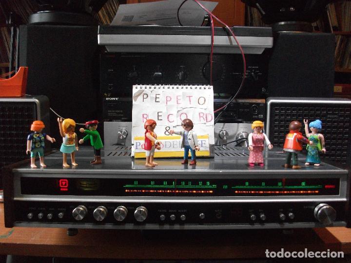 ANTIGUO APARATO VINTAGE SIN MARCA ? AMPLIFICADOR + RADIO FM-AM / SALIDAS AUXILIAR TOCADISCOS Y CASS (Radios, Gramófonos, Grabadoras y Otros - Transistores, Pick-ups y Otros)