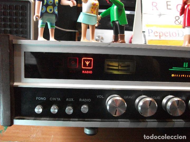 Radios antiguas: ANTIGUO APARATO VINTAGE SIN MARCA ? AMPLIFICADOR + RADIO FM-AM / SALIDAS AUXILIAR TOCADISCOS Y CASS - Foto 2 - 111954315