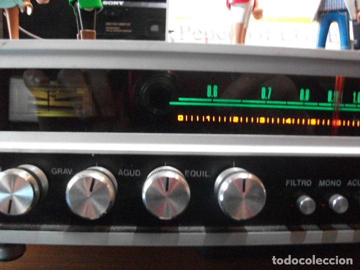 Radios antiguas: ANTIGUO APARATO VINTAGE SIN MARCA ? AMPLIFICADOR + RADIO FM-AM / SALIDAS AUXILIAR TOCADISCOS Y CASS - Foto 3 - 111954315