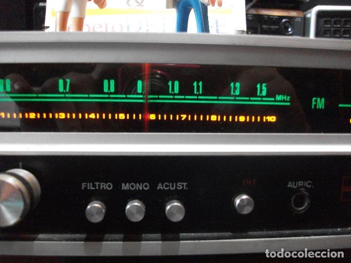 Radios antiguas: ANTIGUO APARATO VINTAGE SIN MARCA ? AMPLIFICADOR + RADIO FM-AM / SALIDAS AUXILIAR TOCADISCOS Y CASS - Foto 4 - 111954315