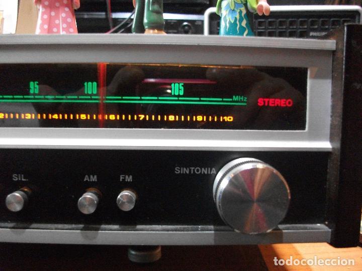 Radios antiguas: ANTIGUO APARATO VINTAGE SIN MARCA ? AMPLIFICADOR + RADIO FM-AM / SALIDAS AUXILIAR TOCADISCOS Y CASS - Foto 6 - 111954315