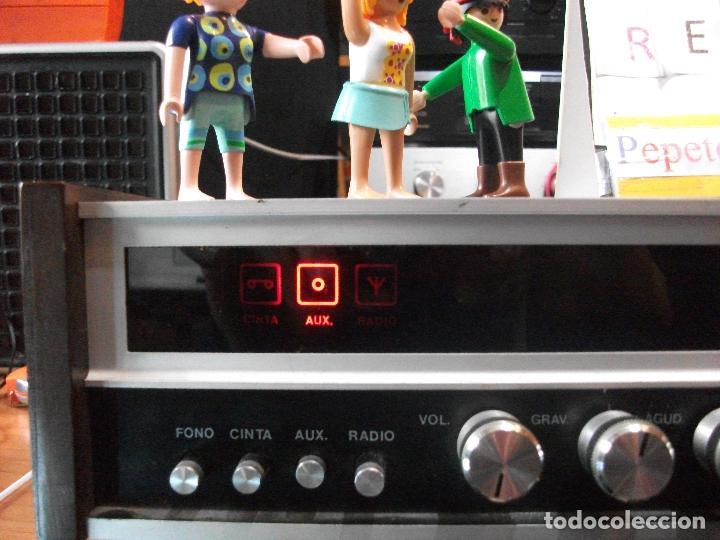 Radios antiguas: ANTIGUO APARATO VINTAGE SIN MARCA ? AMPLIFICADOR + RADIO FM-AM / SALIDAS AUXILIAR TOCADISCOS Y CASS - Foto 8 - 111954315