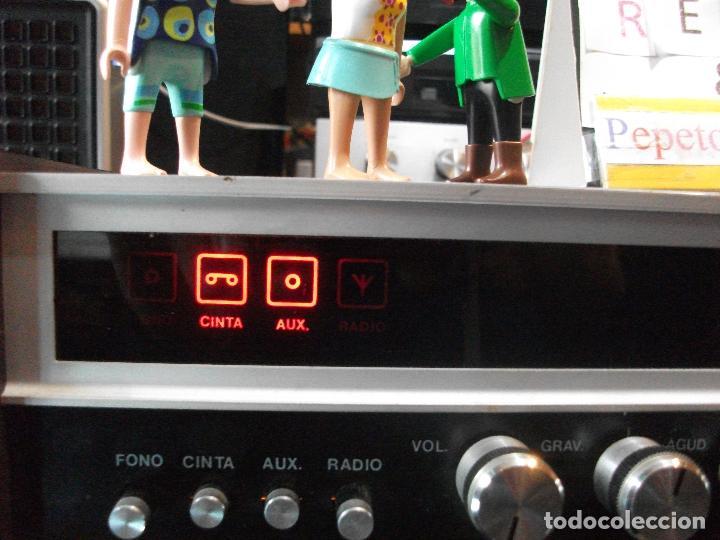 Radios antiguas: ANTIGUO APARATO VINTAGE SIN MARCA ? AMPLIFICADOR + RADIO FM-AM / SALIDAS AUXILIAR TOCADISCOS Y CASS - Foto 9 - 111954315