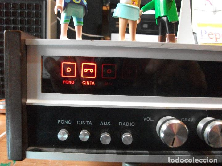 Radios antiguas: ANTIGUO APARATO VINTAGE SIN MARCA ? AMPLIFICADOR + RADIO FM-AM / SALIDAS AUXILIAR TOCADISCOS Y CASS - Foto 10 - 111954315