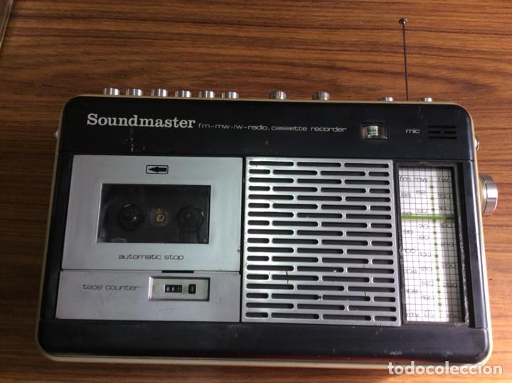 Radios antiguas: TRES RADIOS-DOS CON CASSETTE GRABADOR-ANTIGUAS. - Foto 8 - 112323738