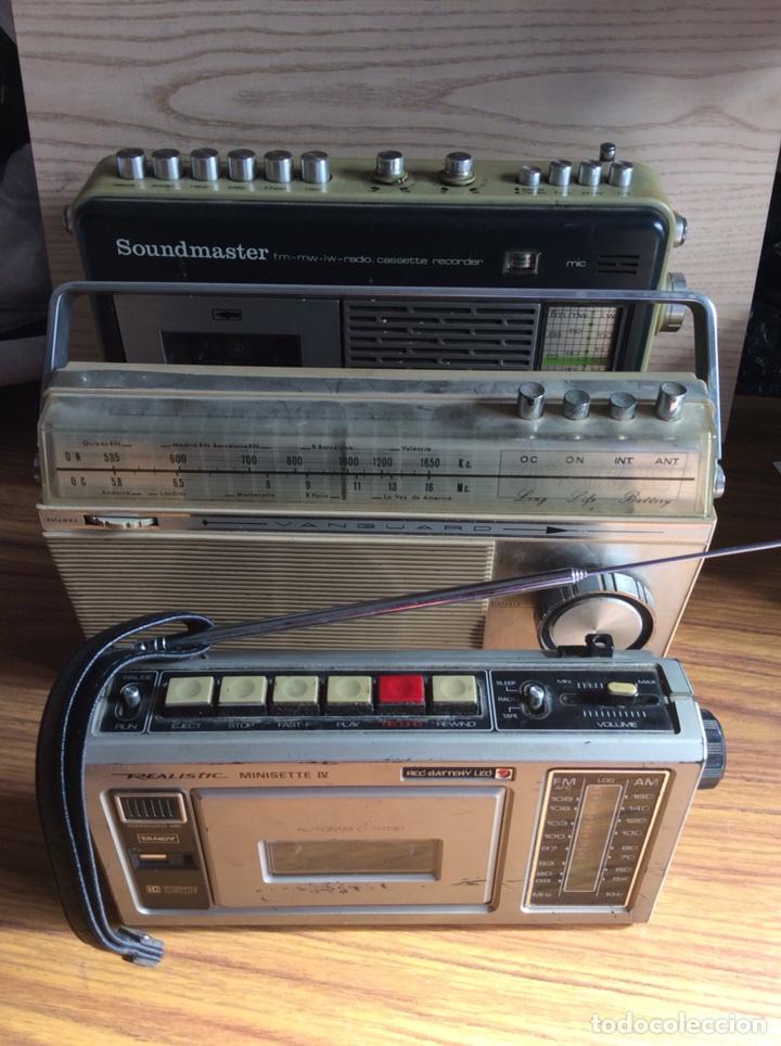 TRES RADIOS-DOS CON CASSETTE GRABADOR-ANTIGUAS. (Radios, Gramófonos, Grabadoras y Otros - Transistores, Pick-ups y Otros)