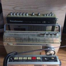 Radios antiguas: TRES RADIOS-DOS CON CASSETTE GRABADOR-ANTIGUAS.. Lote 112323738