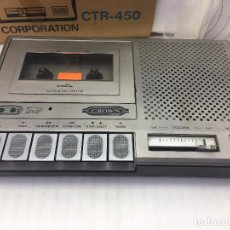 Radios antiguas: CASSETTE RECORDER CTR-450 CROWN - MADE IN JAPAN - EN SU CAJA ORIGINAL Y MANUAL DE INSTRUCCIONES. Lote 112373019