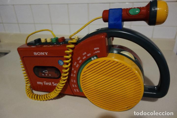 RADIO CASSETTE GRABADORA MICROFONO MY FIRST SONY. POP ART (Radios, Gramófonos, Grabadoras y Otros - Transistores, Pick-ups y Otros)