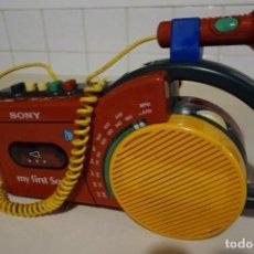 Radios antiguas: RADIO CASSETTE GRABADORA MICROFONO MY FIRST SONY. POP ART. Lote 188797021