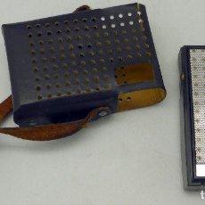Radios antiguas: TRANSISTOR SHARP AM MADE IN JAPAN CON FUNDA CUERO AÑOS 70 FUNCIONA. Lote 112887875