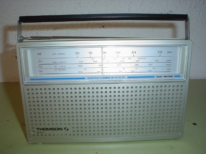 Radios antiguas: RADIO TRANSISTOR THOMSON RT- 431 - Foto 8 - 112813099