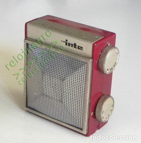 RADIO INTER SLIMTRANSCOLOR - COLOR BURDEOS - ANTIGUA - VINTAGE RETRO - PEQUEÑA MÁQUINA - ESPAÑA (Radios, Gramófonos, Grabadoras y Otros - Transistores, Pick-ups y Otros)
