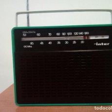 Radios antiguas: RADIO TRANSISTOR INTER . Lote 113891355