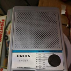 Radios antiguas: RADIO RELOJ UNION CR-302 A CORRIENTE O PILA 9V. Lote 114522519