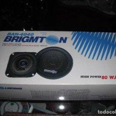Radios antiguas: PAREJA DE ALTAVOCES PARA COCHE NUEVOS EN SU CAJA BRIGMTON B AH 4040 80 WATTS. Lote 115621227