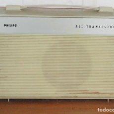 Radios antiguas: TOCADISCOS PORTATIL EN MALETA. PHILIPS ALL TRANSISTOR.. Lote 116128835