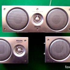 Radios antiguas: LOTE DE 3 ALTAVOCES PHILIPS . SPECTRUM . 8 OHM. Lote 116628263