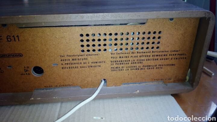 Radios antiguas: Radio,GRUNDIG,RF611, Funcionando - Foto 14 - 117225602