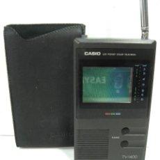 Radios antiguas: RARA MINI TV -CASIO TV1400 - VHF UHF - ¡¡COLECCION¡¡ JAPAN AÑOS 90 - TELEVISION 1400. Lote 140348964