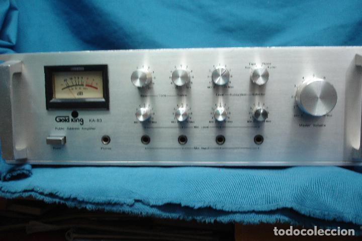 AMPLIFICADOR GOLD KING MDLO. K A 83 - REVISADO Y FUNCIONA (Radios, Gramófonos, Grabadoras y Otros - Transistores, Pick-ups y Otros)