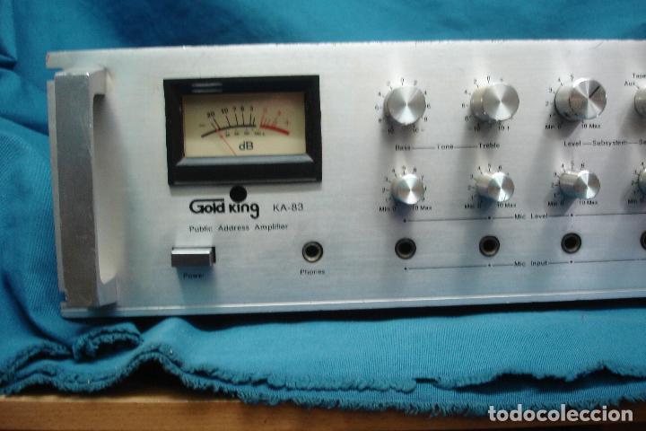 Radios antiguas: AMPLIFICADOR GOLD KING MDLO. K A 83 - REVISADO Y FUNCIONA - Foto 7 - 118190135