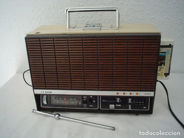 RADIO CASETE 8 PISTAS A.R SYSTEMS PXL-2545E (Radios, Gramófonos, Grabadoras y Otros - Transistores, Pick-ups y Otros)