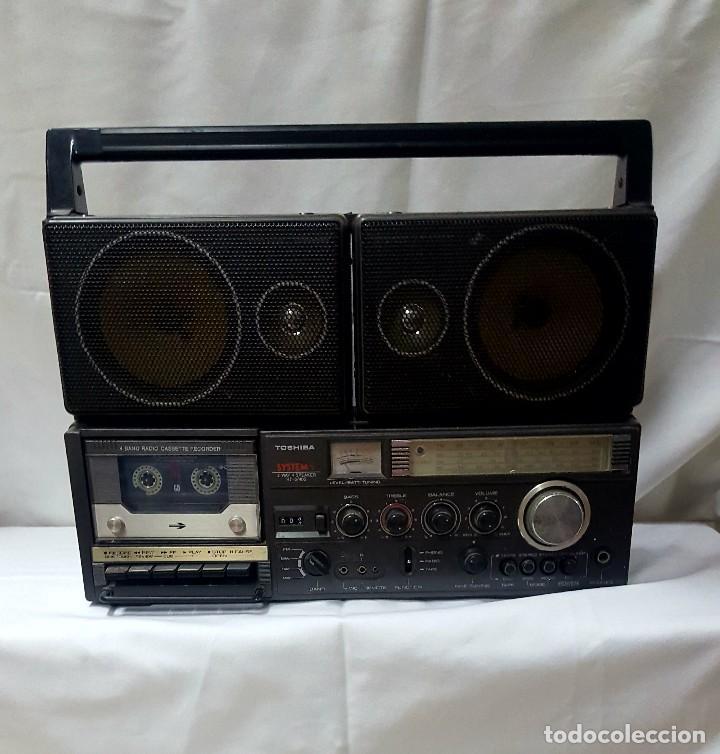 RADIO CASETE THOSIBA SYSTEM (Radios, Gramófonos, Grabadoras y Otros - Transistores, Pick-ups y Otros)