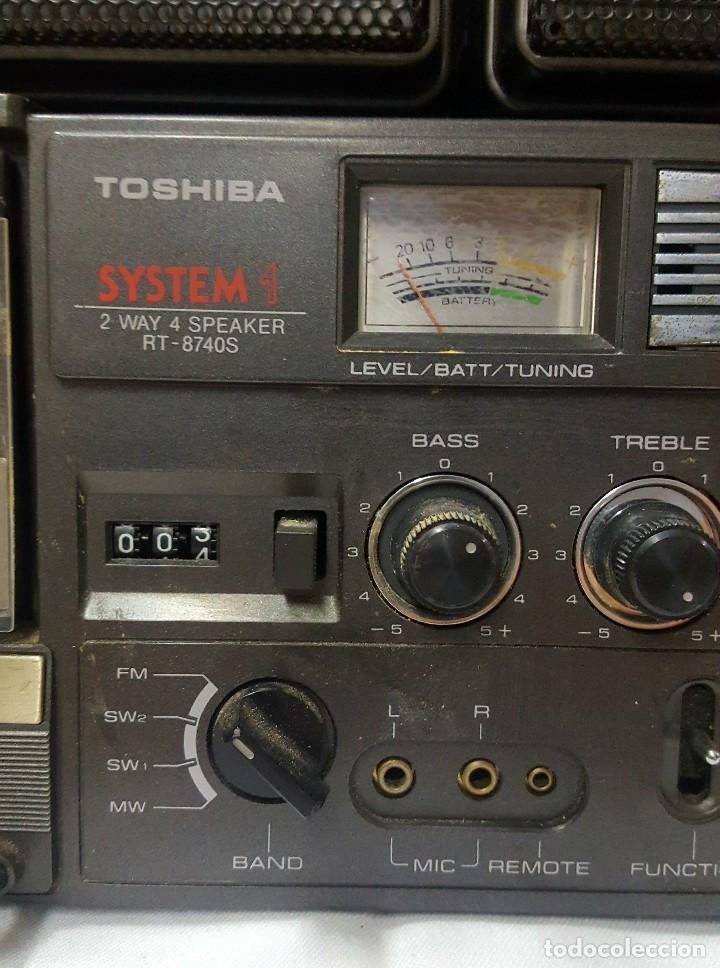 Radios antiguas: radio casete Thosiba system - Foto 4 - 118858287