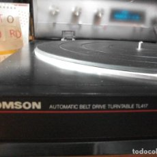 Radios antiguas: TOCADISCOS THOMSON AUTOMATIC BELT TURNABLE TL 417 PEPETO RECORDS & PDELUXE VER VIDEO. Lote 119125843