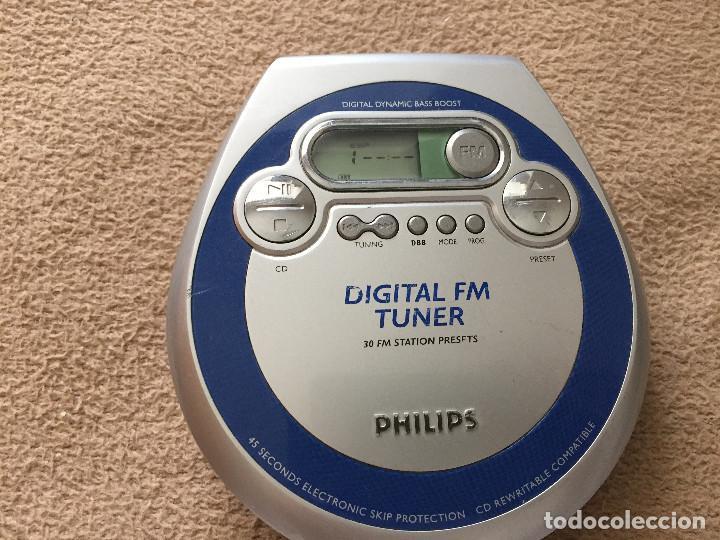 DISCMAN PHILIPS DIGITAL FM TUNER DISC MAN KREATEN (Radios, Gramófonos, Grabadoras y Otros - Transistores, Pick-ups y Otros)