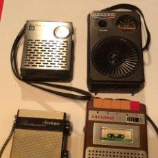 Radios antiguas: LOTE 4 RADIOS TRANSISTORES VINTAGE. Lote 119557243