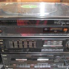 Radios antiguas: CADENA MUSICAL SANYO / AMPLIFICADOR + RADIO + TOCADISCOS + CASSETTE PEPETO ELECTRONICA VER VIDEO. Lote 120676059