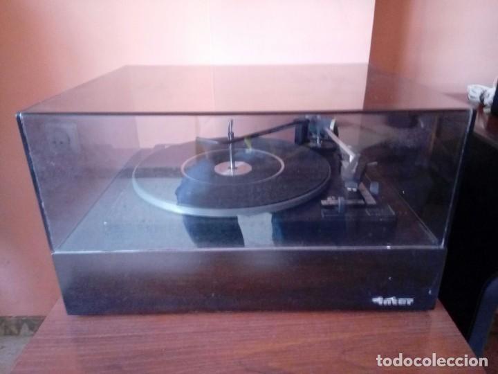 TOCADISCOS DE MADERA . INTER MODELO 338. AÑO 1969 (Radios, Gramófonos, Grabadoras y Otros - Transistores, Pick-ups y Otros)