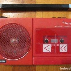 Radios antiguas: VINTAGE RADIO CASSETTE SUPER SLIM INTERNATIONAL MADE IN HONK KONG. Lote 121493443