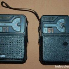 Radios antiguas: LOTE DE DOS RADIOS TRANSISTORES DE BOLSILLO PHILIPS 051 DE 1976. Lote 121782239