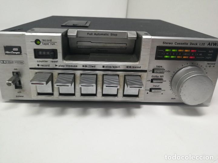 AIWA L22 STEREO CASSETTE DECK. MUY RARO. (Radios, Gramófonos, Grabadoras y Otros - Transistores, Pick-ups y Otros)