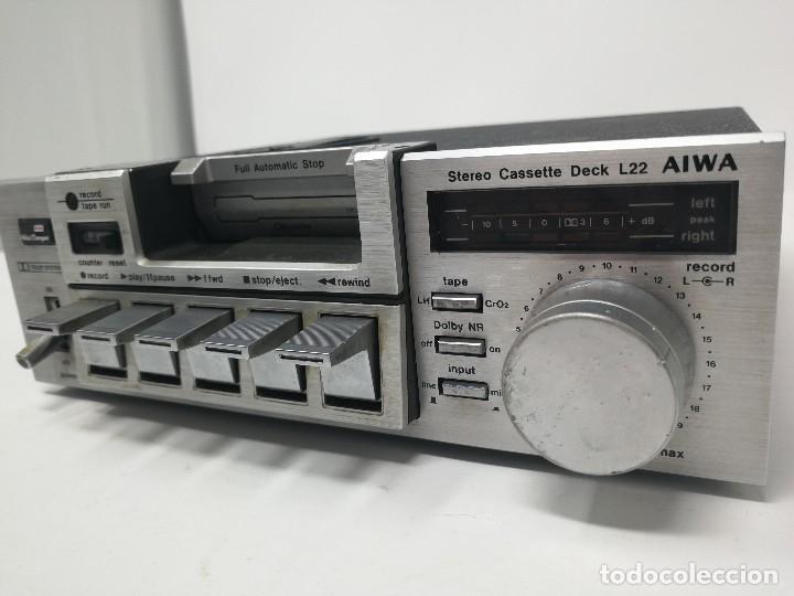 Radios antiguas: Aiwa L22 stereo cassette deck. Muy raro. - Foto 2 - 122320247