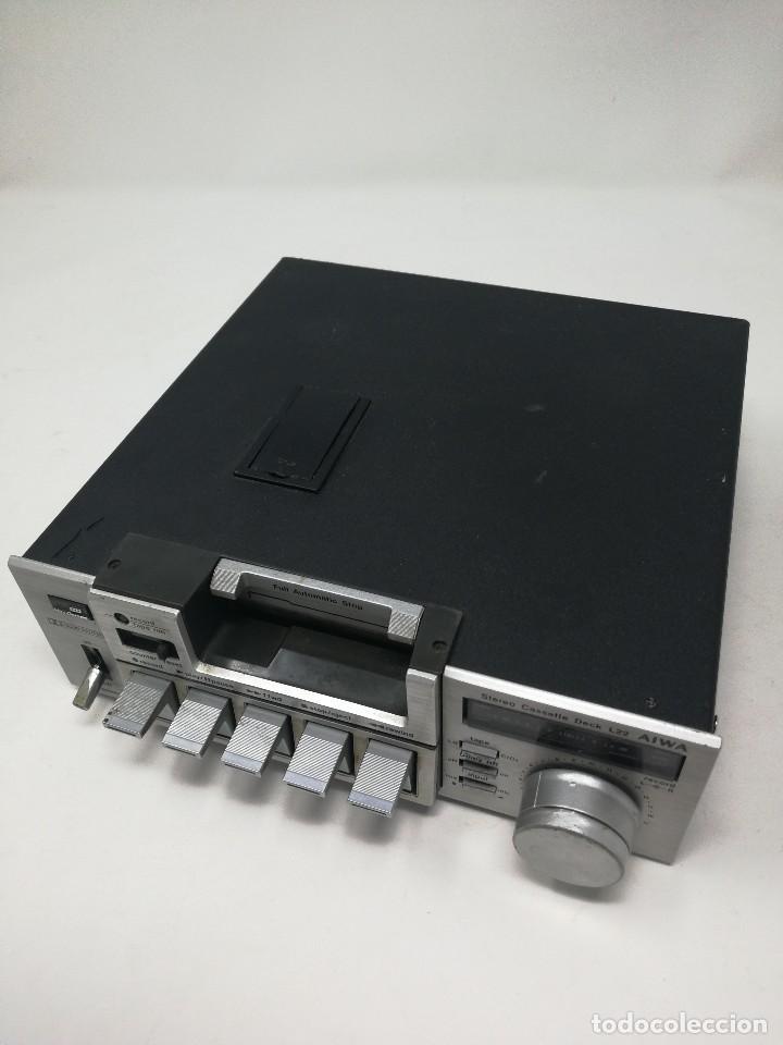 Radios antiguas: Aiwa L22 stereo cassette deck. Muy raro. - Foto 4 - 122320247
