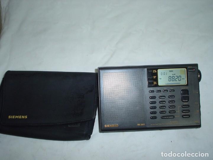 RADIO MULTIBANDAS SIEMENS RK 661 (Radios, Gramófonos, Grabadoras y Otros - Transistores, Pick-ups y Otros)