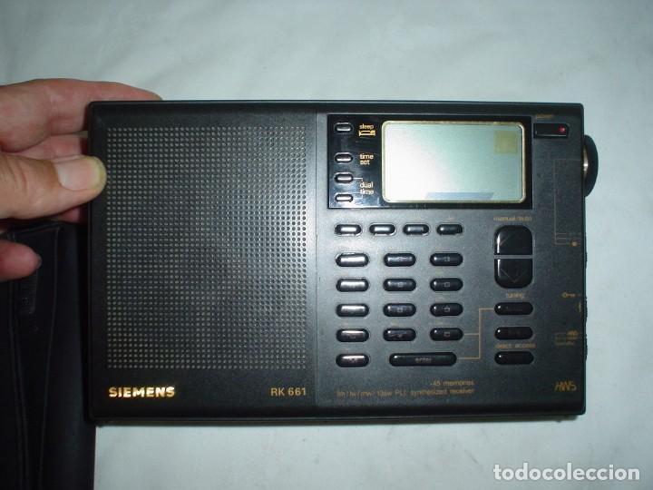Radios antiguas: RADIO MULTIBANDAS SIEMENS RK 661 - Foto 3 - 123536455