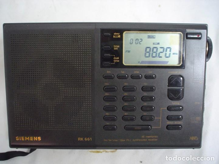 Radios antiguas: RADIO MULTIBANDAS SIEMENS RK 661 - Foto 5 - 123536455