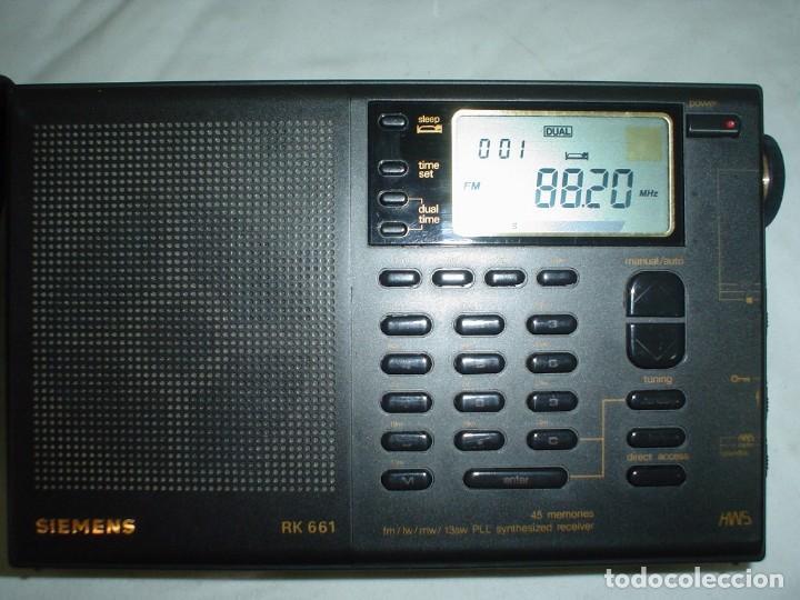 Radios antiguas: RADIO MULTIBANDAS SIEMENS RK 661 - Foto 7 - 123536455