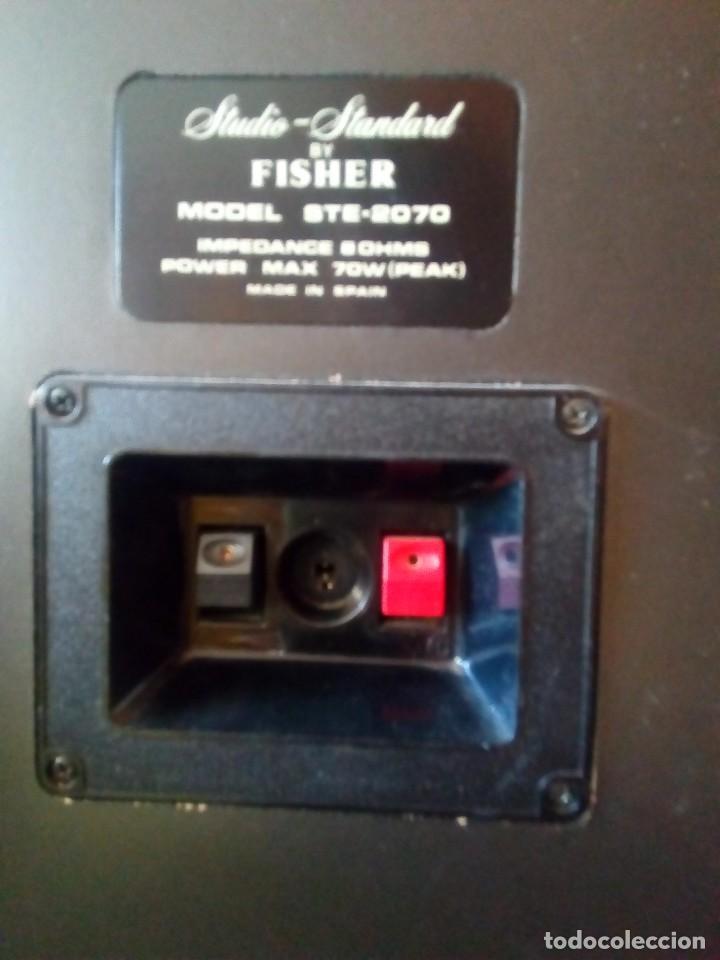 Radios antiguas: Pareja de altavoces Fisher 70W - Foto 3 - 124033887