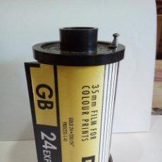 Radios antiguas: RADIO EN FORMA DE CARRETE FOTOGRAFICO AÑOS 70. Lote 124505795