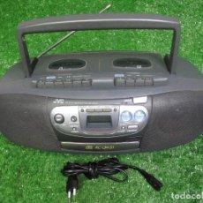 Radios antiguas: AÑOS 90 JVC RADIO CD DOBLE CASSETE RC-QW20 FUNCIONA. Lote 125142643