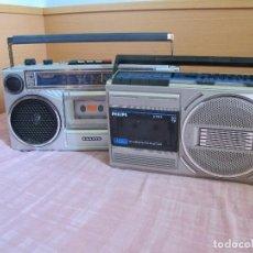 Radios antiguas: PAREJA DE RADIOS, SANYO Y PHILLIPS, FUNCIONANDO. Lote 125282435