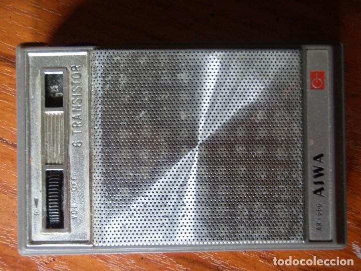 RADIO 6 TRANSISTORES AIWA AR-666 FUNCIONANDO (Radios, Gramófonos, Grabadoras y Otros - Transistores, Pick-ups y Otros)